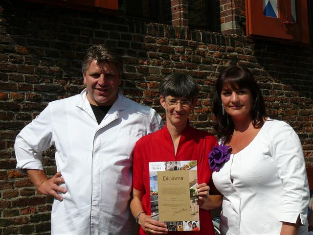 Diploma-uitreiking Jonnie en Therese